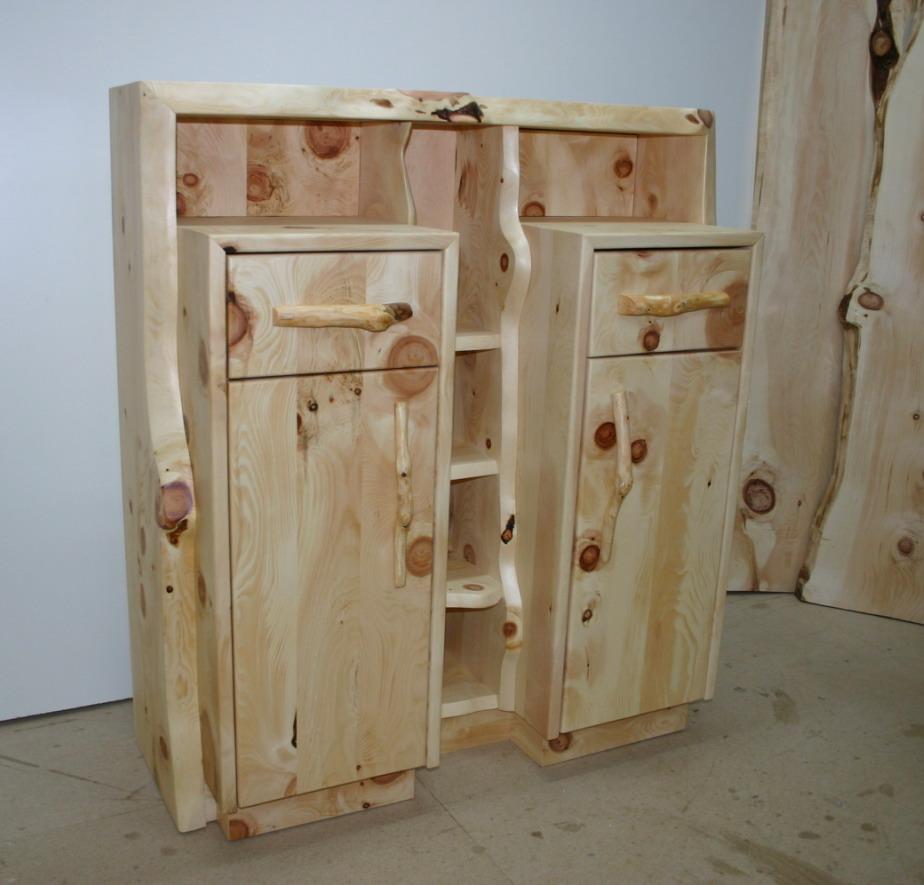 Zirben Holz Kommode Ast