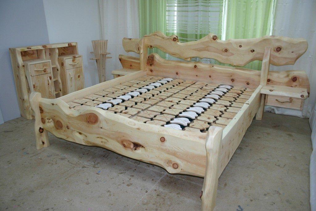 Zirbenholz Bett Rustika Toplitzsee