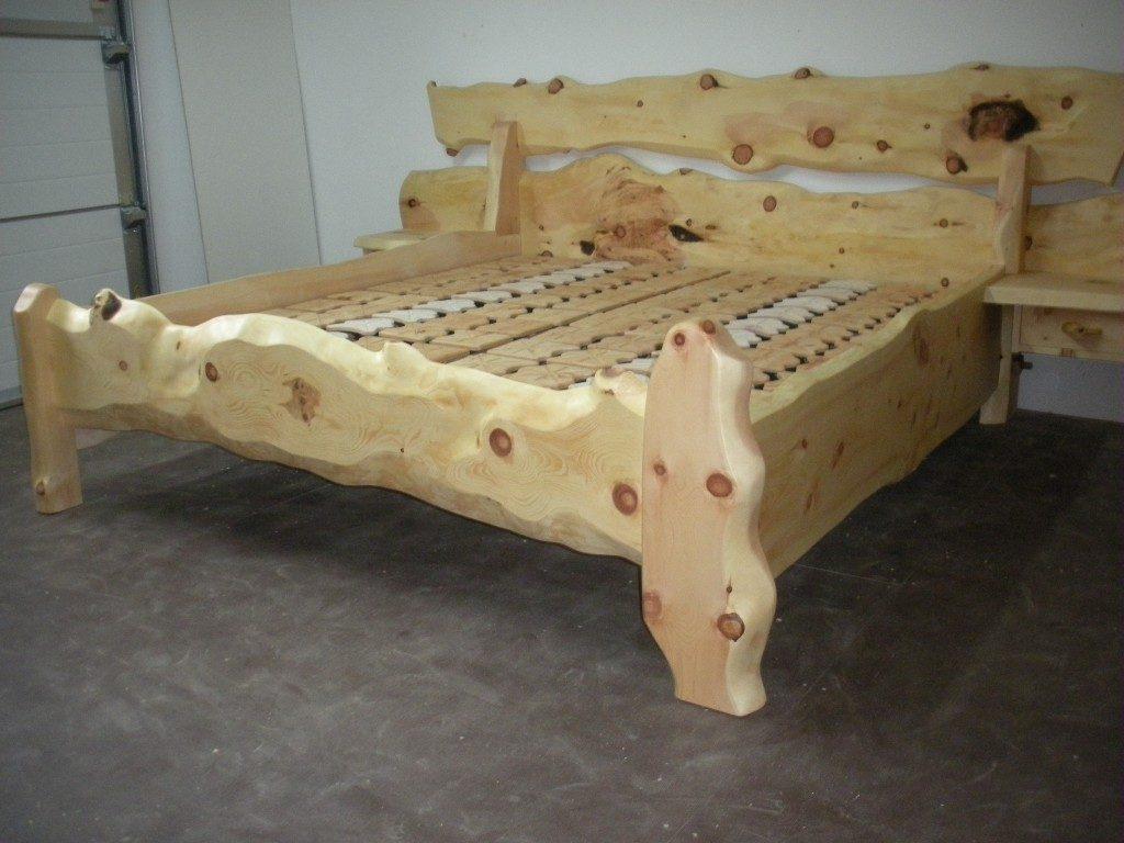 Zirbenholz Bett Rustika Wolfgangsee
