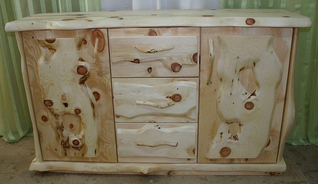 Zirben Holz Kommode Zirbenast
