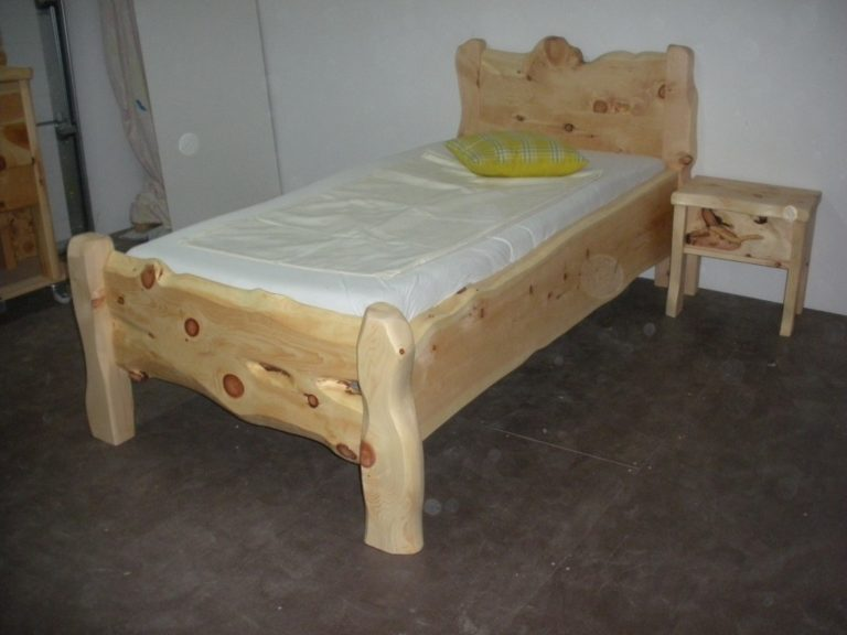 Kinderbett Einzelbett Grimming aus Zirbenholz